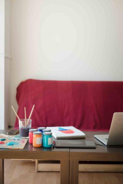 modern artist painter illustrator designer studio